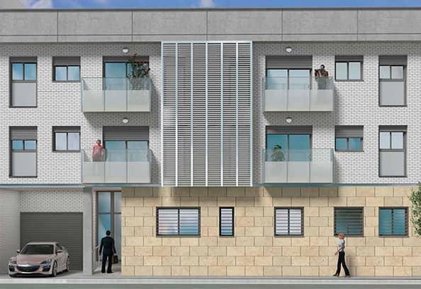 piso obra nueva Cornellà almeda vista exterior
