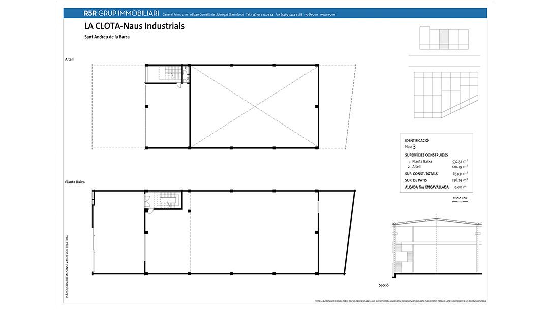 Nave Industrial Alquiler Sant Andreu Barca Polígono La Clota planos construcción 2