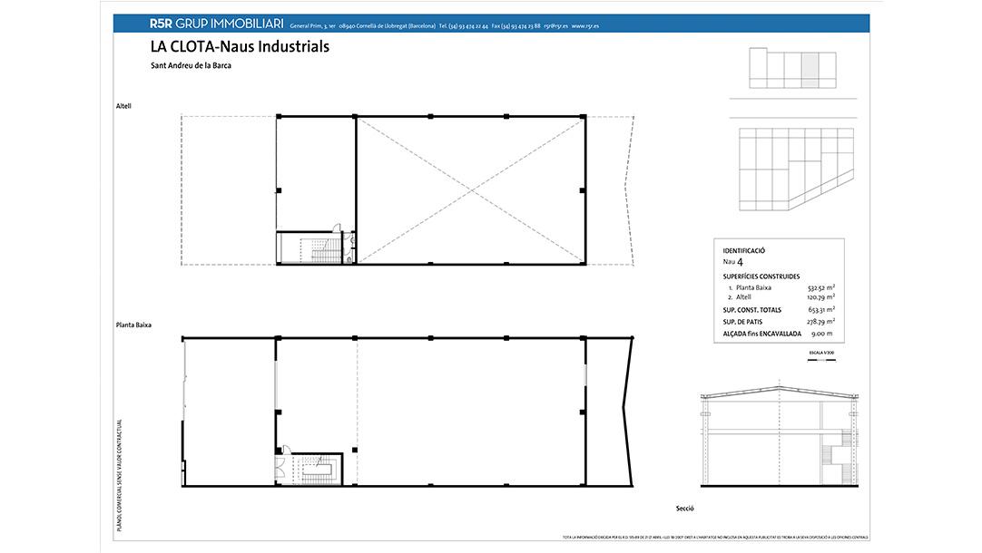 Nave Industrial Alquiler Sant Andreu Barca Polígono La Clota planos construcción 3