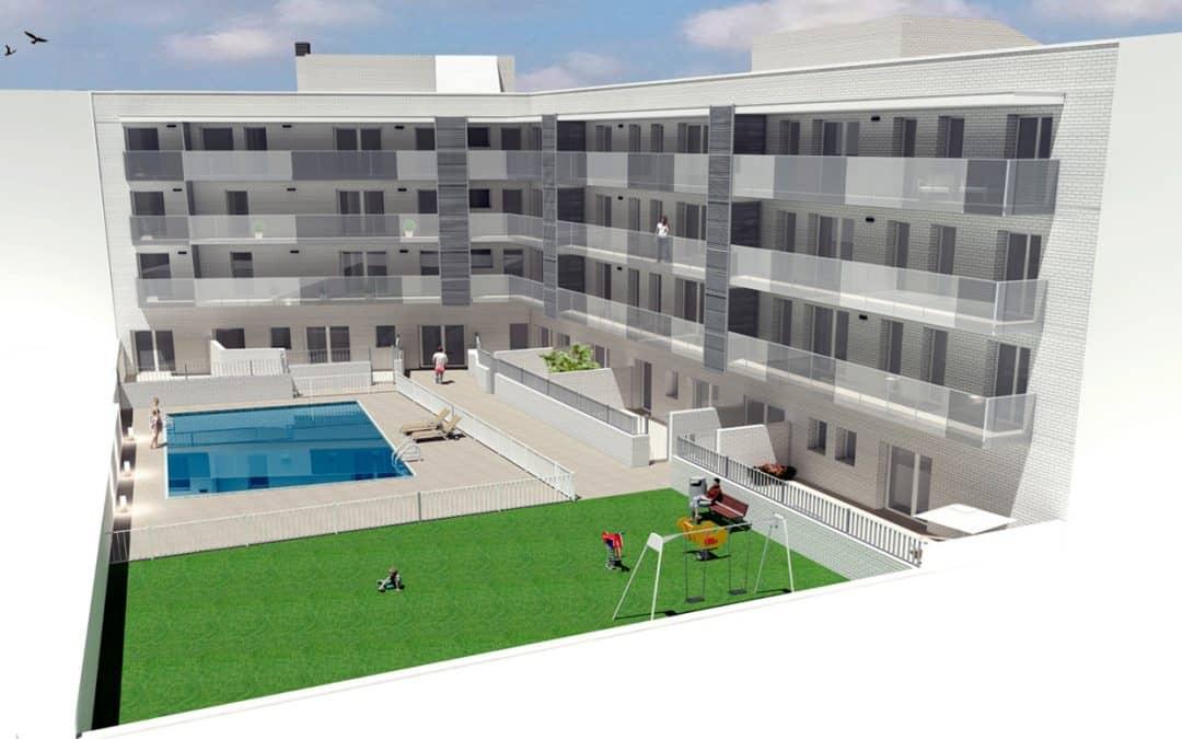 promoción obra nueva Cornellà-centro vista zona común