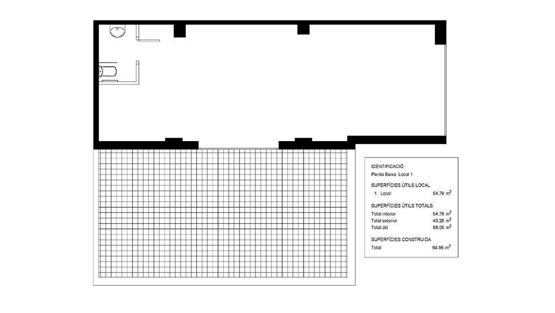 Plano de Local en venta en Avenida Frederic Mompou de Sant Boi de Llobregat